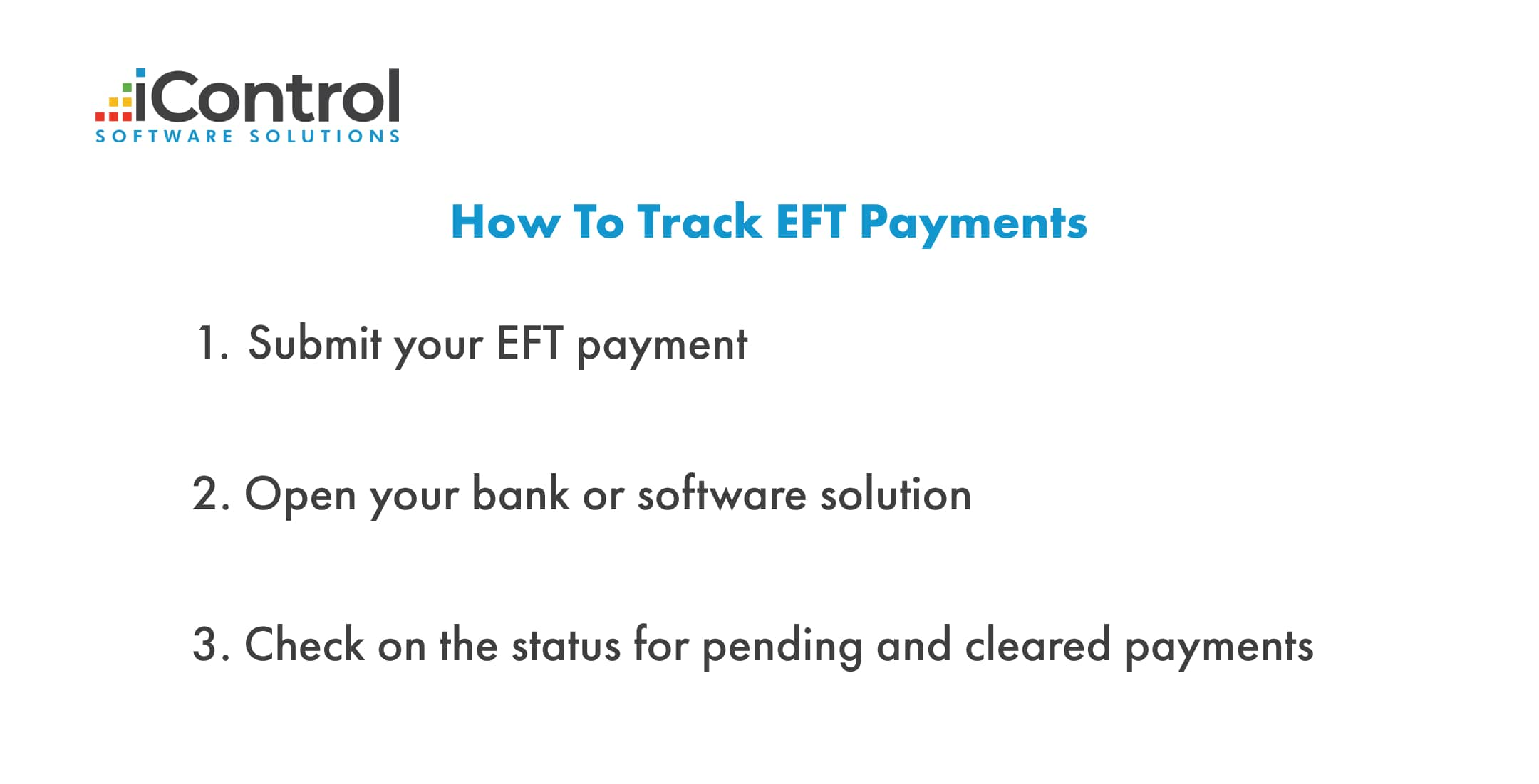 track EFT payments