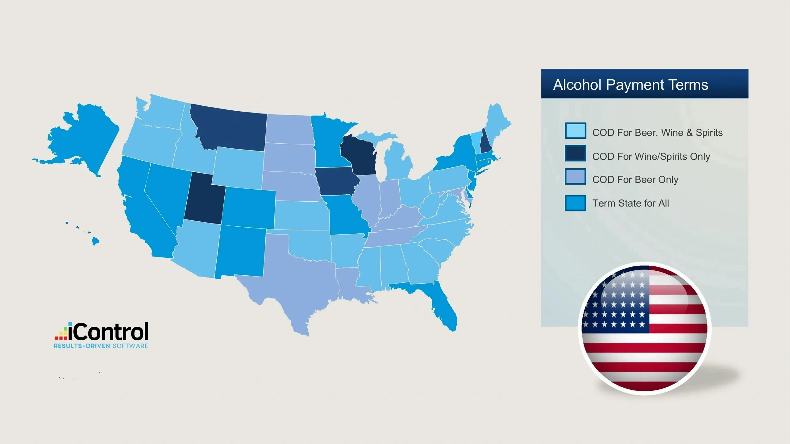 iControl Alcohol Payment Laws by State